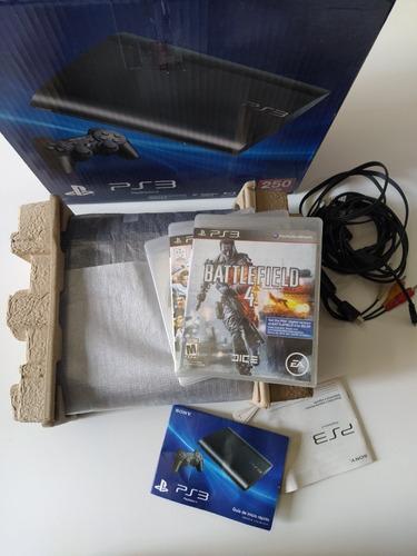 Playstation 3 Slim 250gb + 3 Juegos Físicos. Sin Joystick
