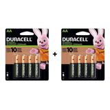 Pack Duracell Pilas Recargables 8 Aa 2500mah 1.2v