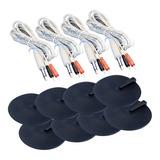 4 Cables Y 8 Electrodos 10cm - Electroestimulador Tekmedical