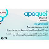Apoquel 5,4mg Zoetis Dermatológico Para Cães Com 20 Comp