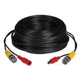 Cable 18 Mts Bnc Video + Alimentación Cámaras Seguridad Cctv