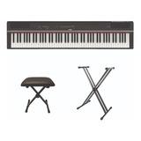 Piano Electronico Yamaha P-125bl + Base Doble