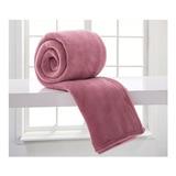 Cobertor Corttex Home Design Microfibra Casal Rosa-antigo Liso