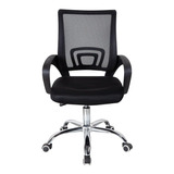 Cadeira De Escritório Trevalla Tl-cde-26-1  Preta Com Estofado Do Mesh