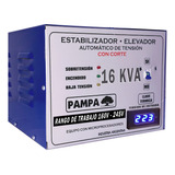 Estabilizador Elevador De Tensión Pampa Herramientas 16kva 16000va Entrada Y Salida De 220v Blanco