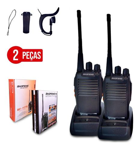 Kit 2 Radio Walk Talk Comunicador 6km 16 Ch Baofeng 777s Vhf
