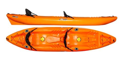 Kayak Hidro2eko Solar Duo Naranja C/p. Caña- Kayaks Feelfree