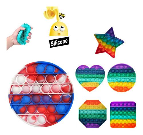 Juguete Push Pop It Antiestrés Fidget Burbuja 1 Unidad