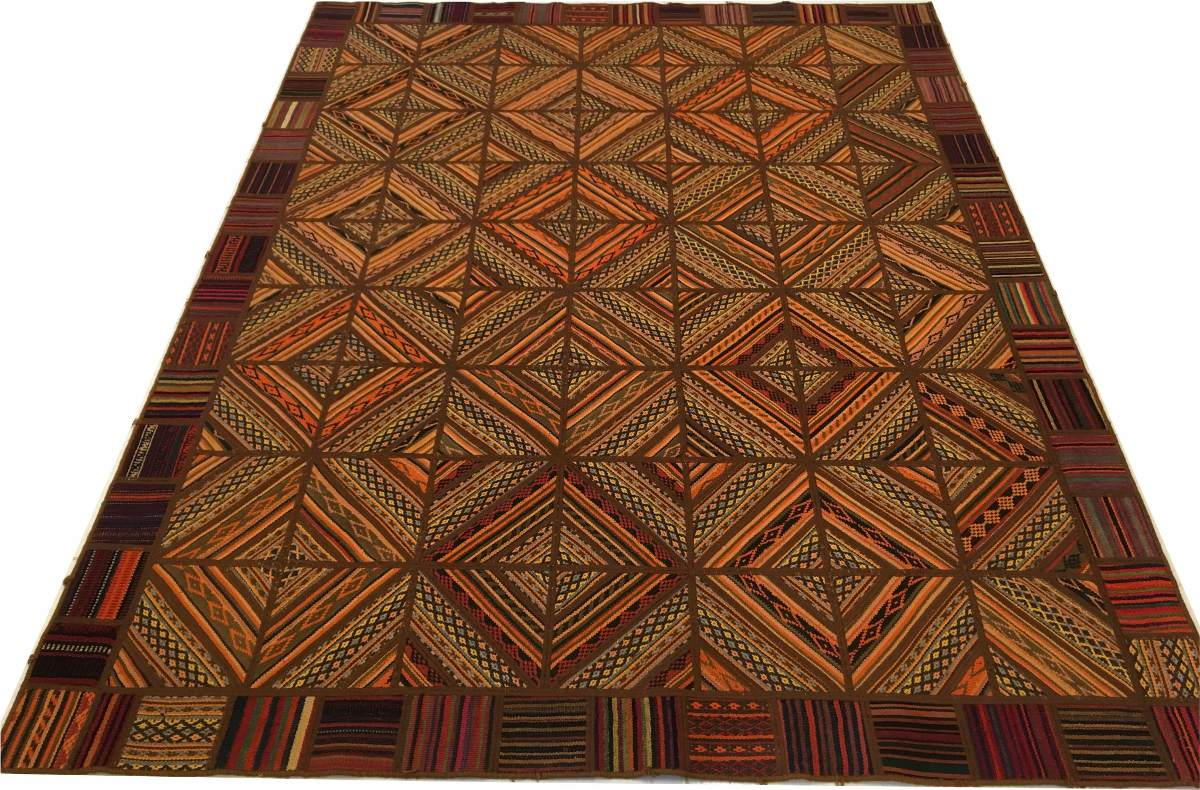 Tapete Kelim Patchwork Jadim Indiano 250x195 Handmade 2,5x2