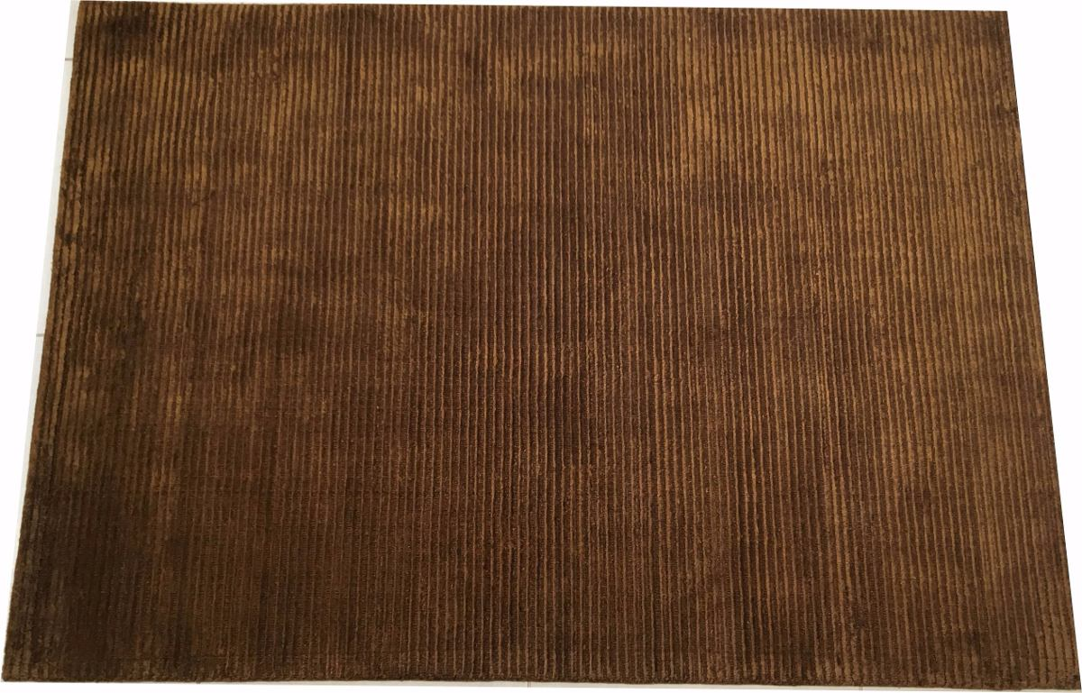 Tapete Nepal Tibetano Marrom 1,4x2m Handmade Indiano 2x1,4m