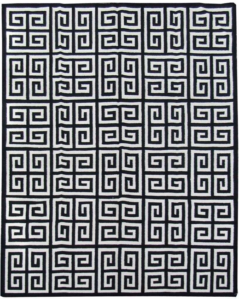 Tapete Kelim Indiano 3x2m Geometrico Desenho Grego 2x3m