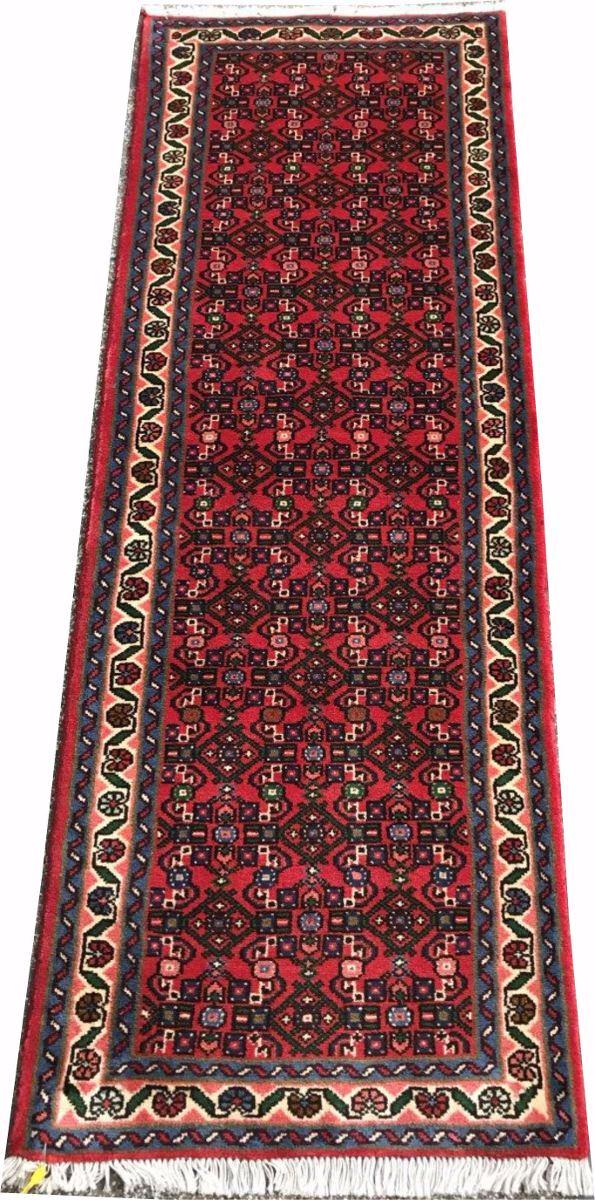 Passadeira Persa 2m Hossein Abad 192x72cm Handmade Hamadan