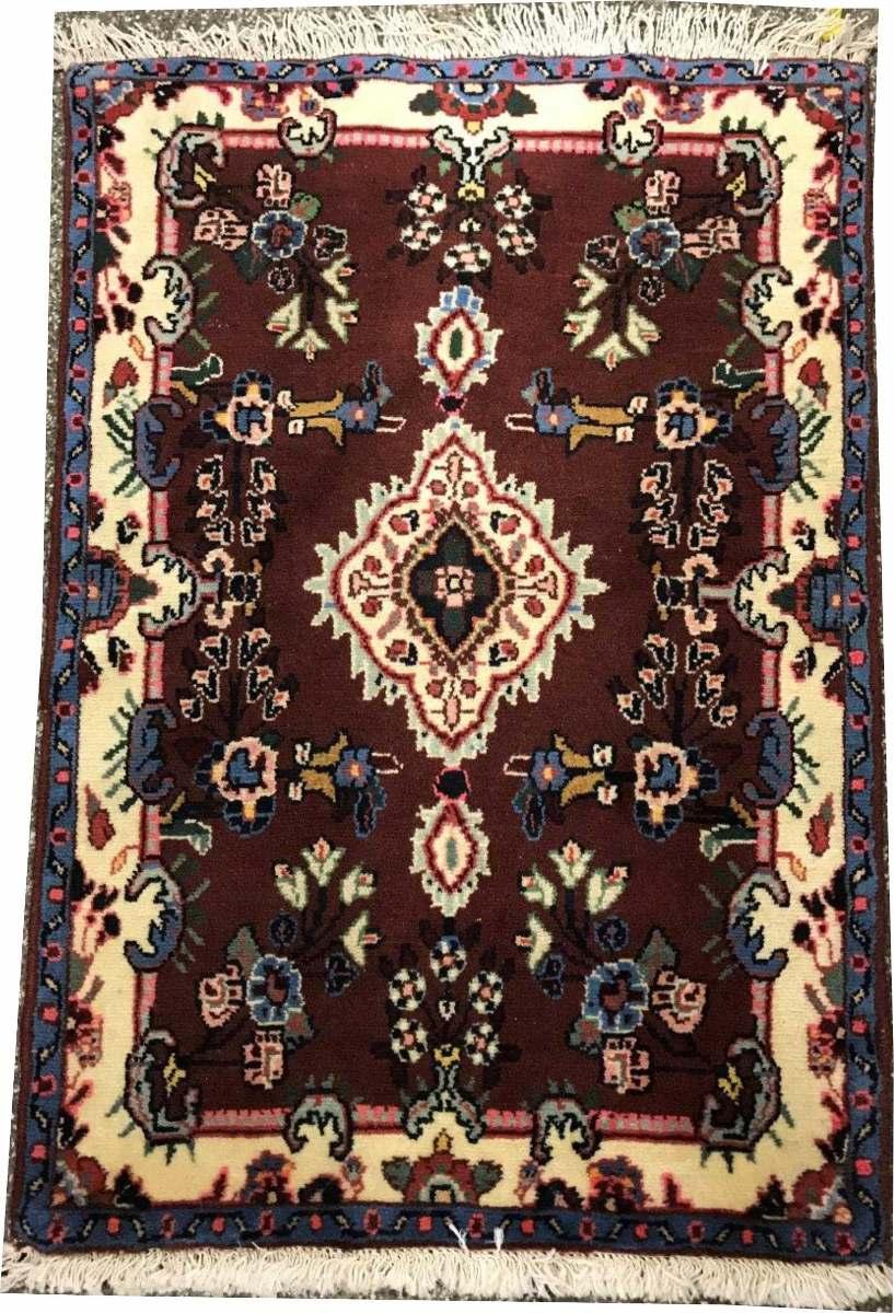 Hamadan 108x68cm Handmade Tapete Persa Rustico 1.1x0.7m