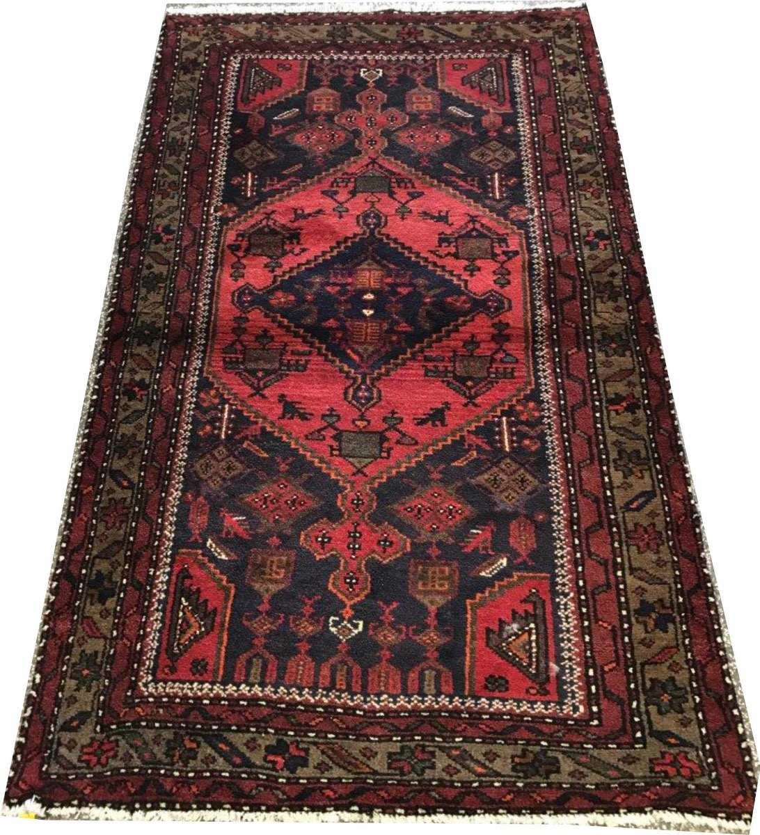 Hamadan 158x95cm Handmade Tapete Persa Rustico 1.5x1m