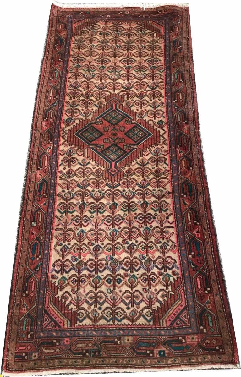 Passadeira 2m Hossein Abad 190x80cm Persa Handmade Hamadan
