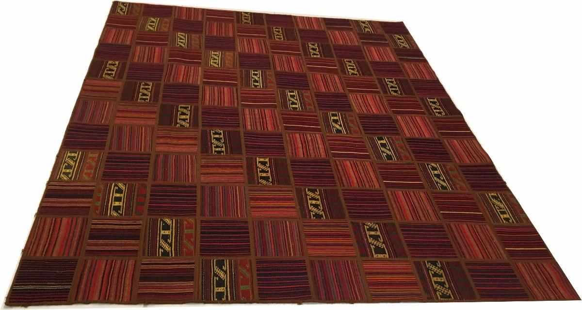 Tapete Kelim Patchwork Jadim Indiano 236x196 Handmade 2.4x2