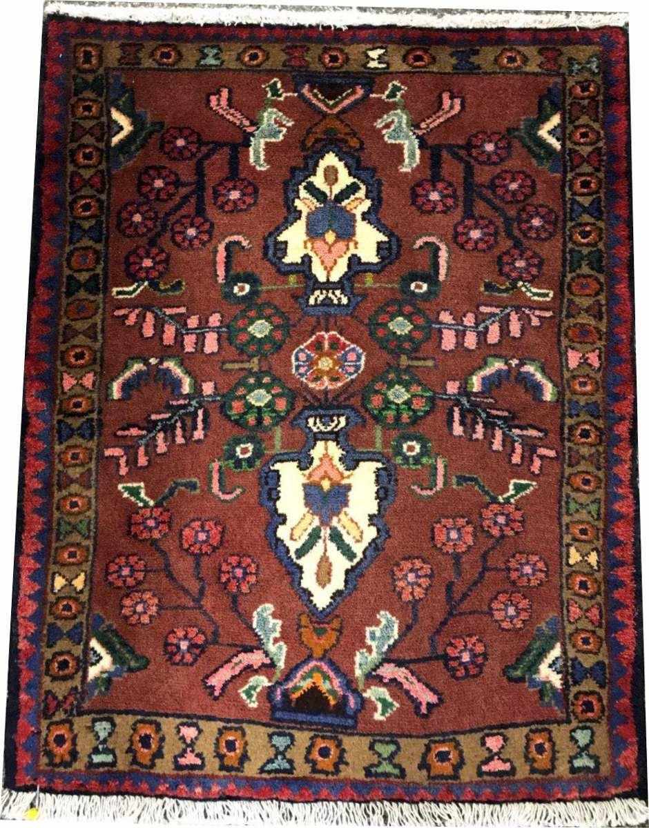 Tapete Persa Hamadan 86x69cm Handmade Legitm Rustico Shiraz