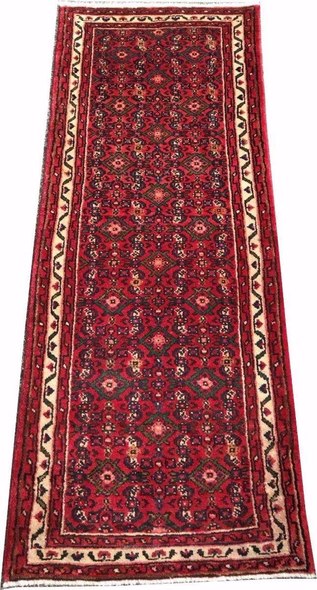 Passadeira 2m Hossein Abad 185x72cm Persa Artesanal Hamadan