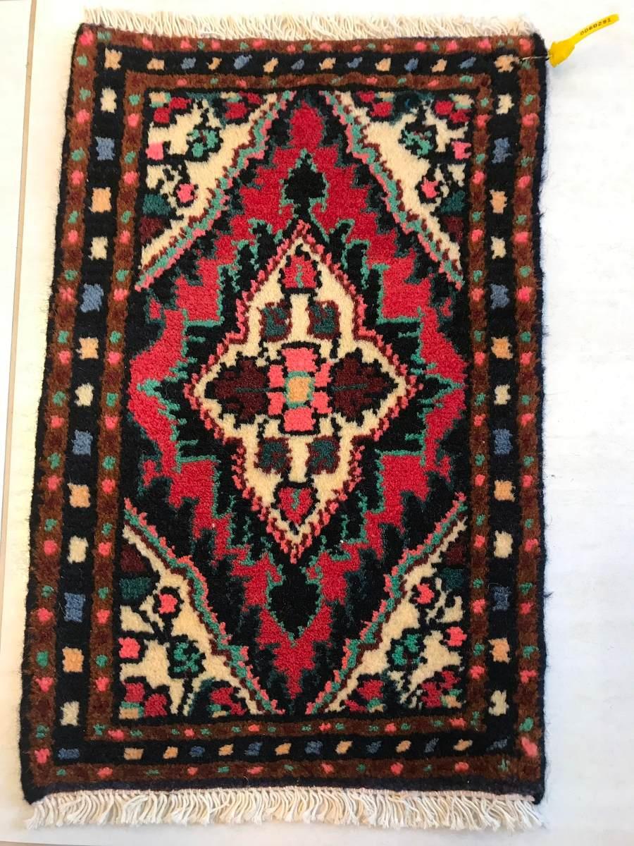 Tapete Persa Hamadan 60x40cm Handmade Legitimo Decorativo