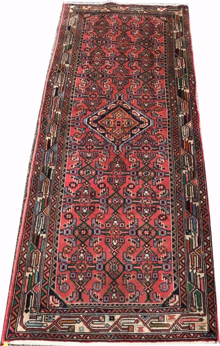 Passadeira 2m Hossein Abad 202x85cm Persa Handmade Hamadan
