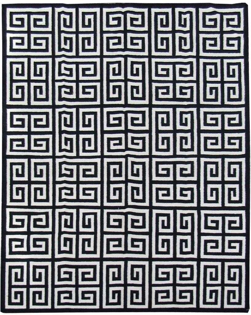 Tapete Kelim Indiano 3x4m Geometrico Desenho Grego 4x3m