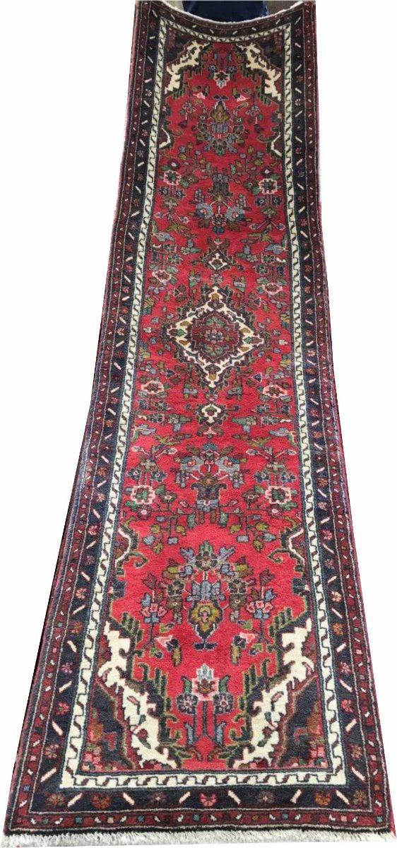 Passadeira Trilho 3m Hamadan 310x75cm Persa Handmade Shiraz