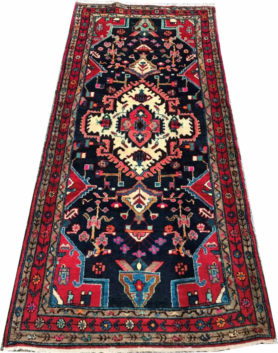 Hamadan 205x102cm Handmade Tapete Persa Rustico Galeria 2x1