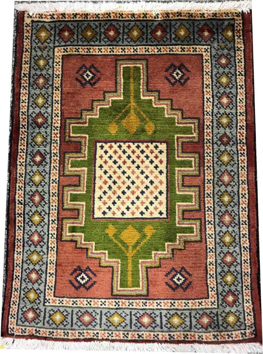 Tapete Persa Hamadan 84x62cm Handmade Legitm Rustico Shiraz