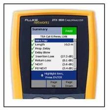 Escaneo Nodo Cat 6 O 6a Fluke Dtx-1800 Calibración Vigente