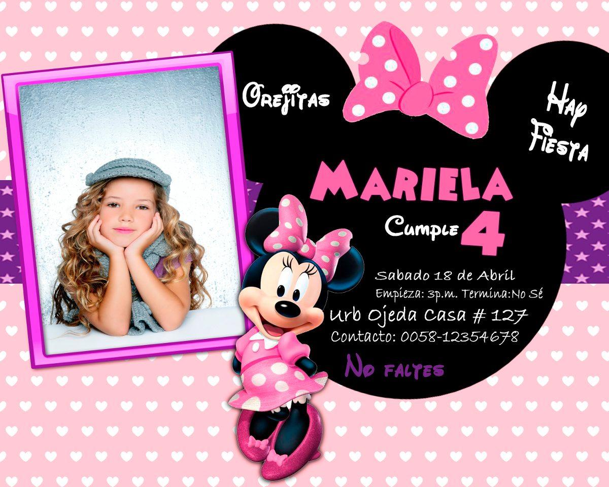 Tarjetas Para Cumpleaños De L A Minnie