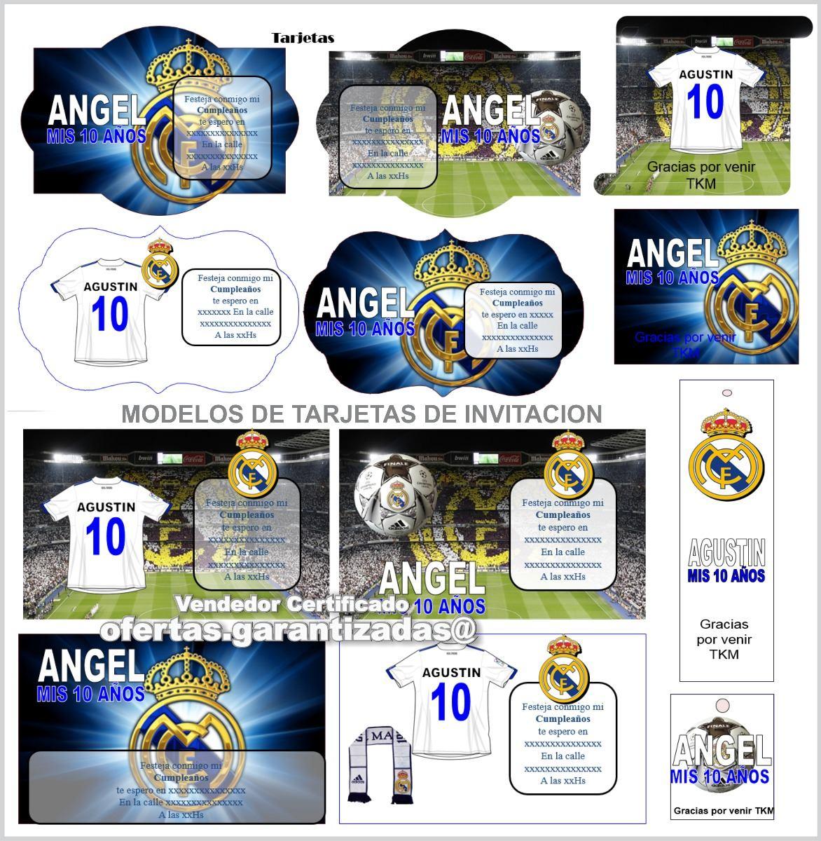Tarjetas Cumpleaños Real Madrid