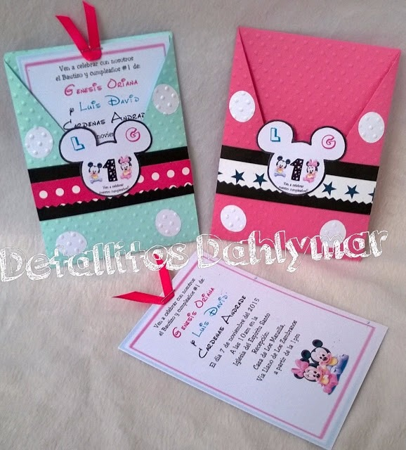 Tarjetas Cumpleaños Minnie