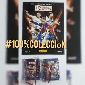 .- Pack Álbum Fútbol Chileno 2016 + 50 Sobres Panini