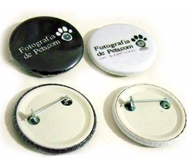 - 100 bottons alfinete 3,5cm - personalizado
