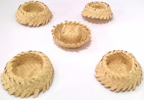 100 Unidades) Mini Chapéu De Palha Envio De Imediato - R  101 0bcc3a44549