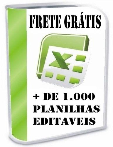 + 1.000 planilhas excel 100% editáveis envio via e-mail