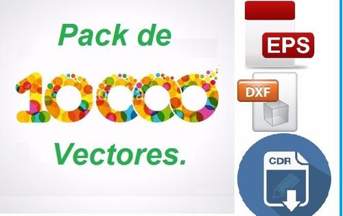 +10000 pack vectores laser 3d cnc corel dxf + corel draw x8