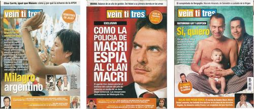 # 12. revista veintitres - lote de 15 ejemplares