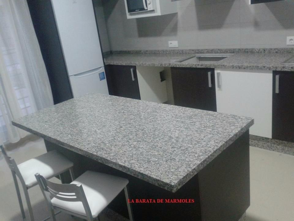 Metro lineal de cubierta de granito natural gris for Precio metro lineal encimera granito