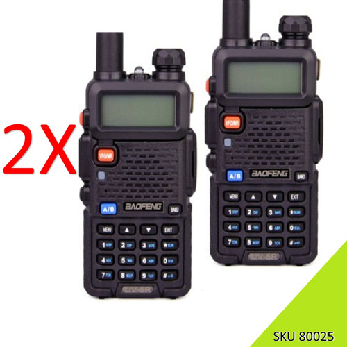 ¨ 2 radiotelefonos baofeng uv5r ae plus uhf vhf doble band