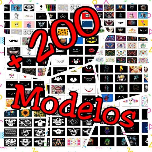 +200 diseños para cubrebocas