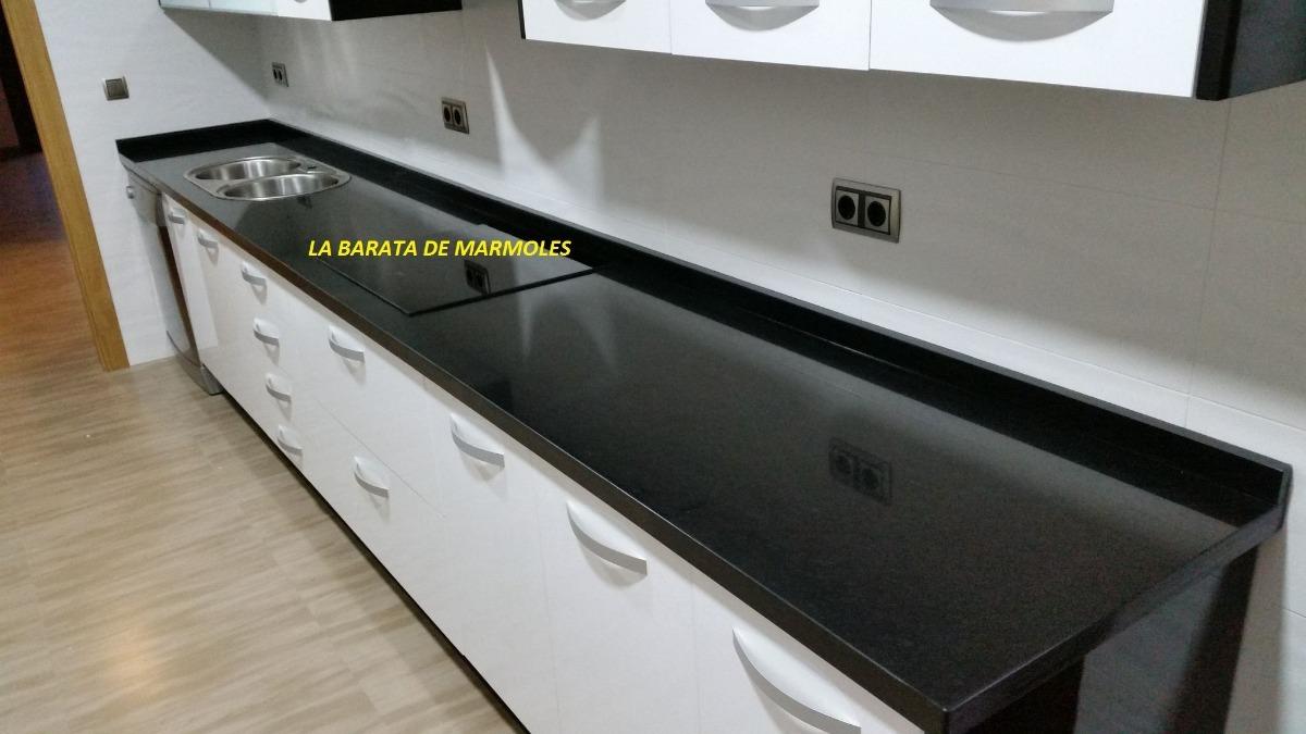 Granito negro san gabriel cubierta cocina 2 en mercado libre - Encimera granito negro ...
