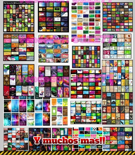 + 2500 plantillas de tarjetas de presentacion eps, psd