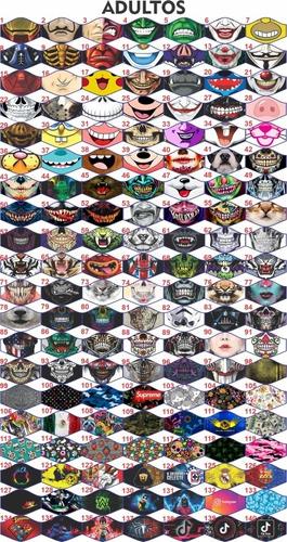 +340 diseños originales para cubrebocas mas moldes incluidos