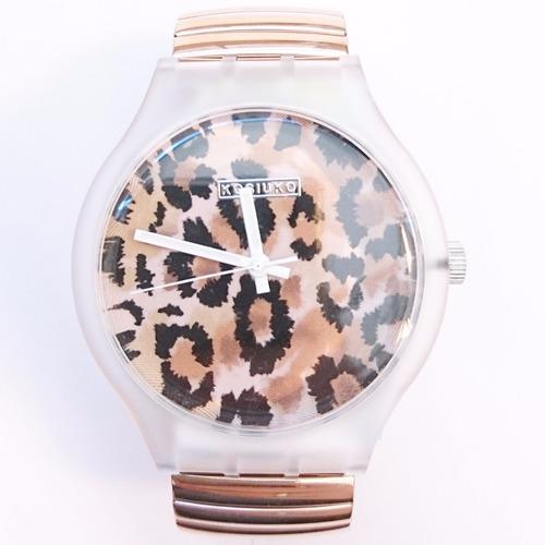 -35% reloj kosiuko resolution correa elastizada animal print
