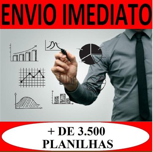 +3.500 planilhas excel 100% editáveis frete grátis #download