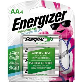 4 Pilas Aa Recargables Energizer, 2300 Mah, Disponibles