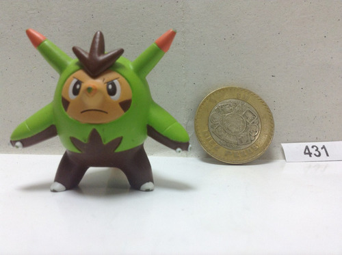 *** 431. pokemon quilladin *** tomy original.  pokechay