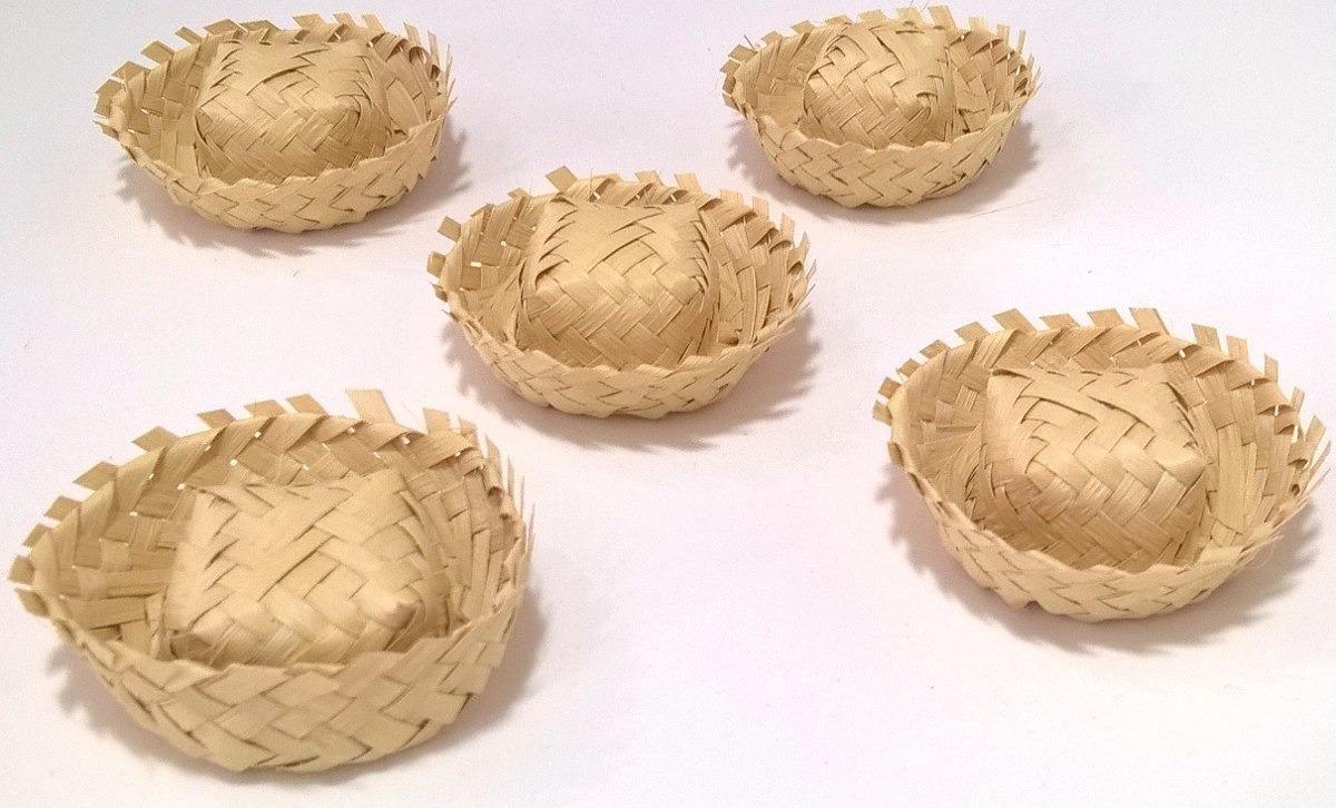 ( 50 unidades ) mini chapéu de palha festa junino. Carregando zoom. c973f5bffa4