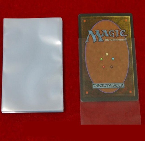 *** 500 protetor sleeves shields magic the gathering grátis